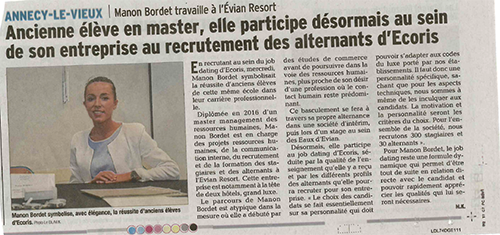 Job Dating Ecoris : Manon Bordet recrute pour Evian Resort